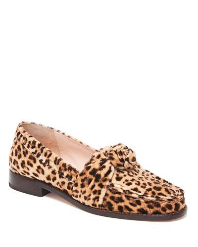 Elina Leopard Knot Loafers