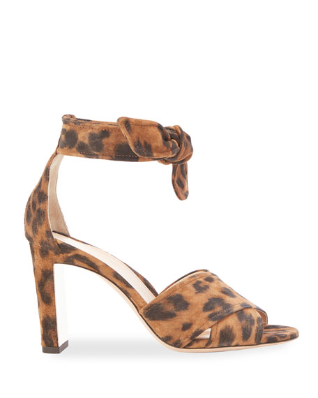 Leah Leather Ankle-Tie Sandals