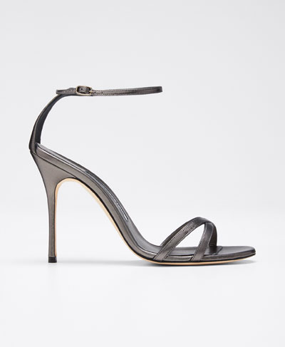 Paloma Metallic Strappy Sandals