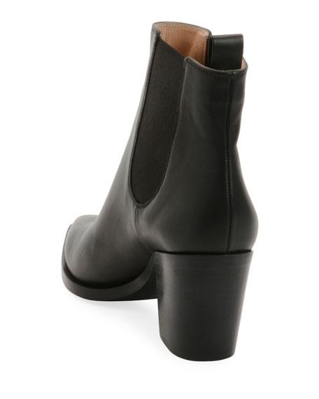 Leather Western Chelsea Booties