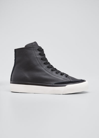 RB Leather High-Top Sneakers