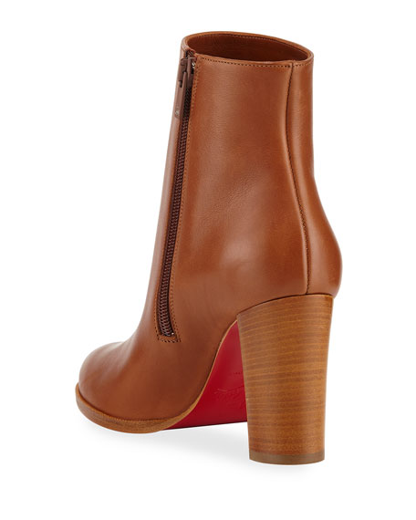 finest selection 668a2 79d3a Adox Leather Block-Heel Red Sole Boots