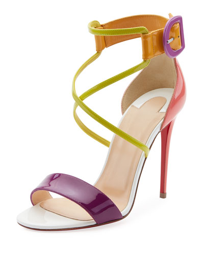 Choca Patent Red Sole Sandals
