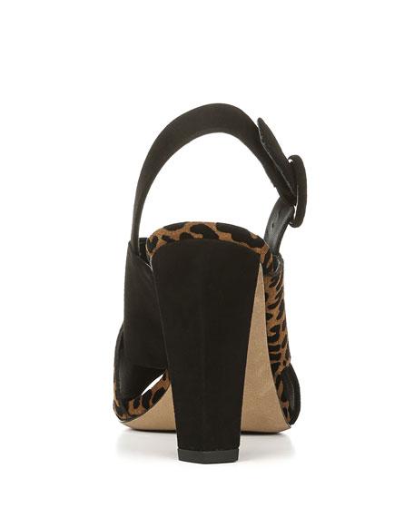Baile Two-Tone Leopard Sandals