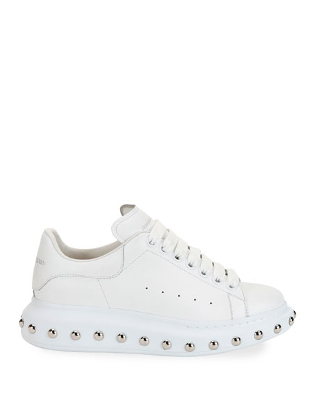 Studded Leather Low-Top Sneakers