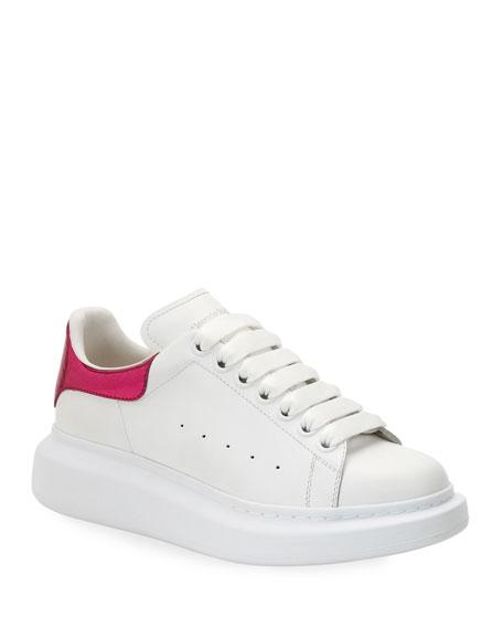 Metallic Croc-Embossed Low-Top Sneakers