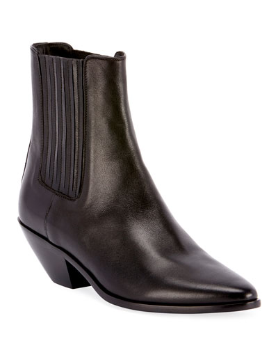 West Chelsea Leather Booties
