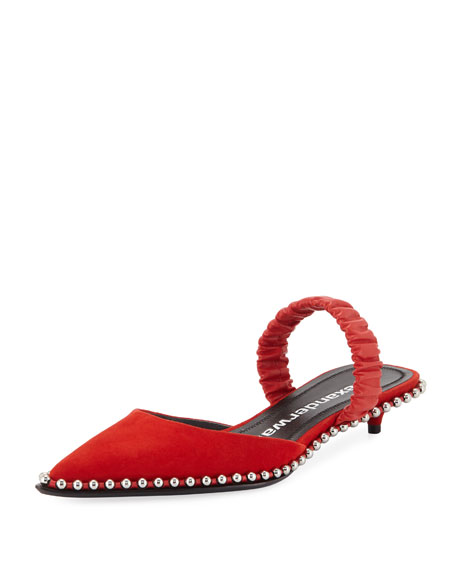 Nina Racer Ball-Chain Pumps, Red
