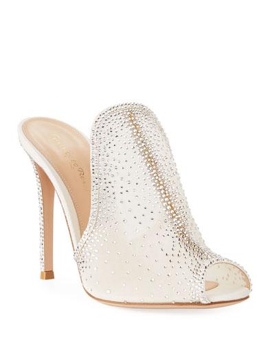 96277b23a5 Organza Lace Strass Mule Sandal Quick Look. Gianvito Rossi