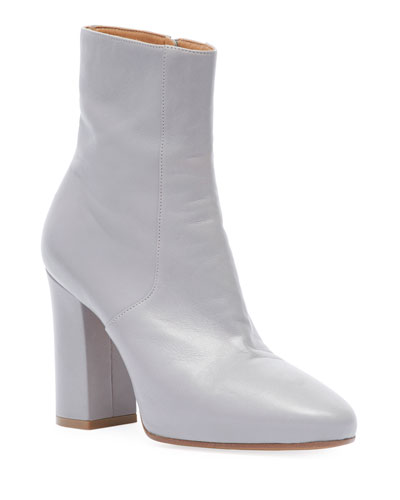 Leather Ankle 80mm Booties