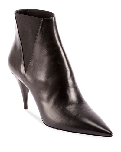2782a8a411d Kiki Pointed Toe Leather Booties Quick Look. Saint Laurent