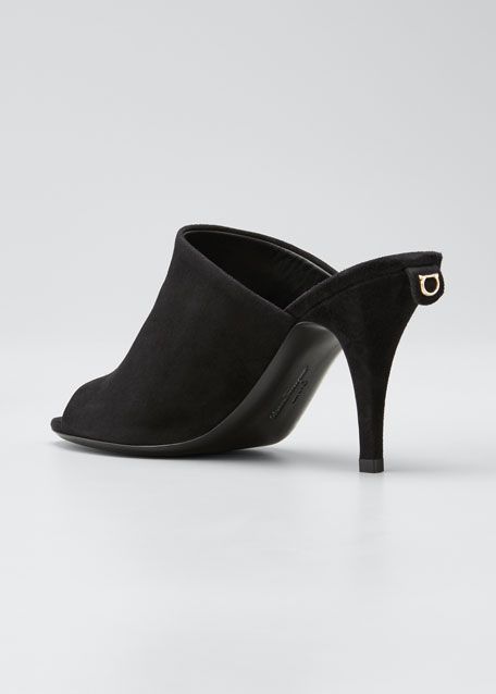 Janine Suede Mule Sandals