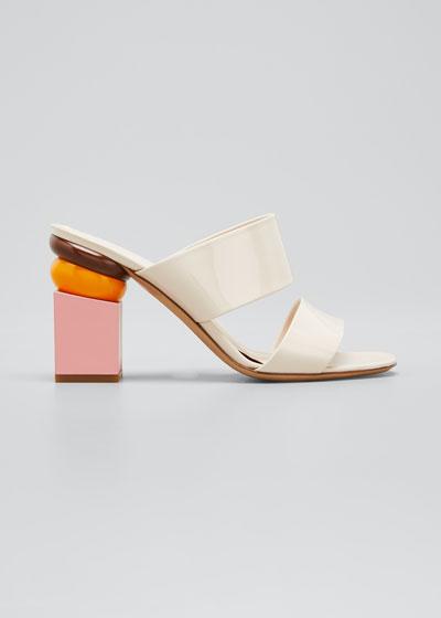 Loten Block-Heel Colorblock Sandals
