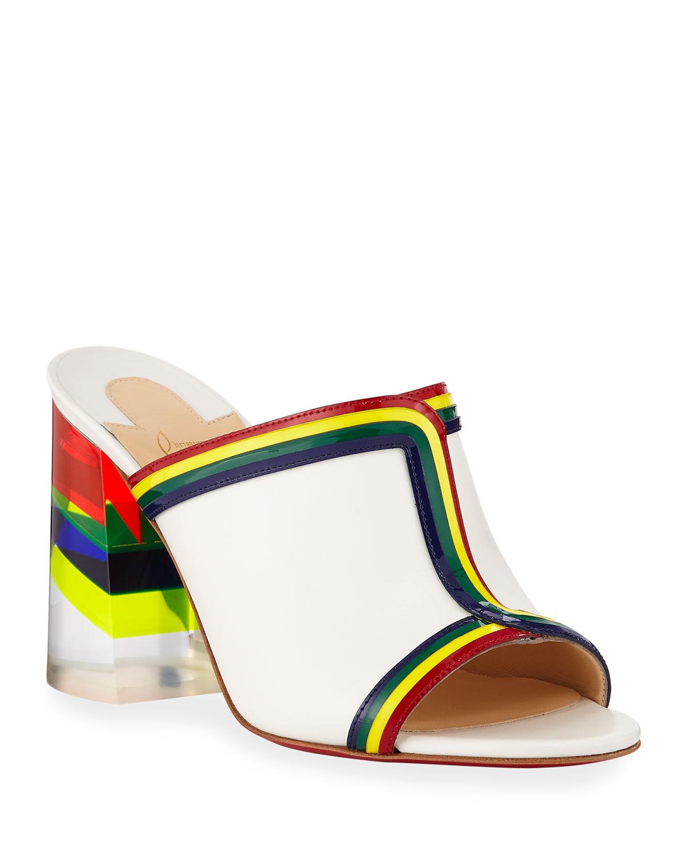Christian Louboutin Slippers Ranimule 85 Plexi-Heel Red Sole Slide Sandals