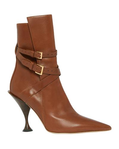 Hadfield Pedestal-Heel Leather Boots