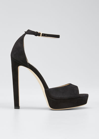 Pattie Suede Platform Sandals
