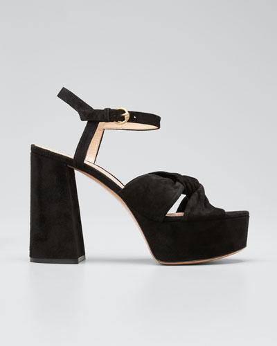 70mm Platform Sandals with Twist Front