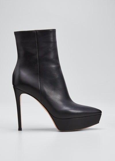 Pointed Platform Zip Booties