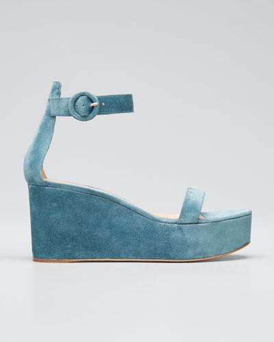 Ankle-Strap Flatform Wedge Sandals