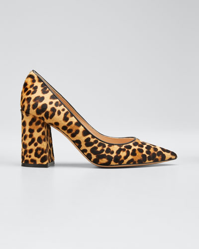Leopard-Print Calf Hair Pumps