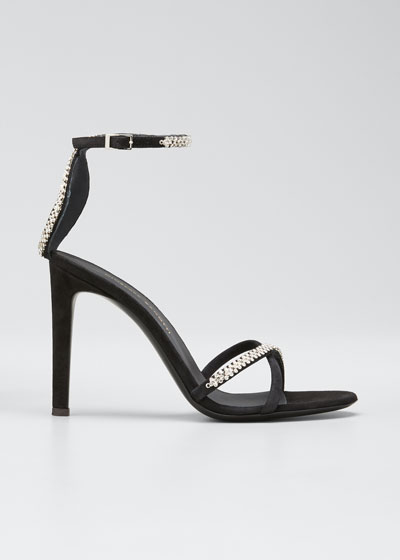 Ricoperto Crystal Suede Strappy Sandals