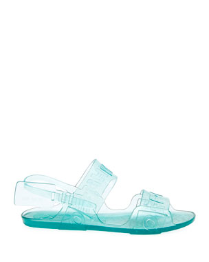 Off-White Zip Tie Jelly Sandals