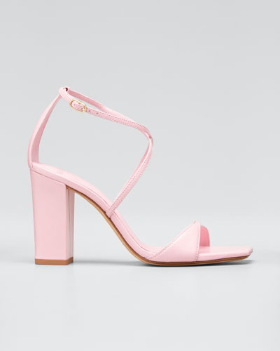 Miki Leather Ankle Sandals