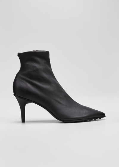 Beha Stretch Leather Moto Booties