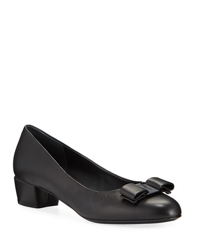 Vara Bow Leather Ballerina Flats