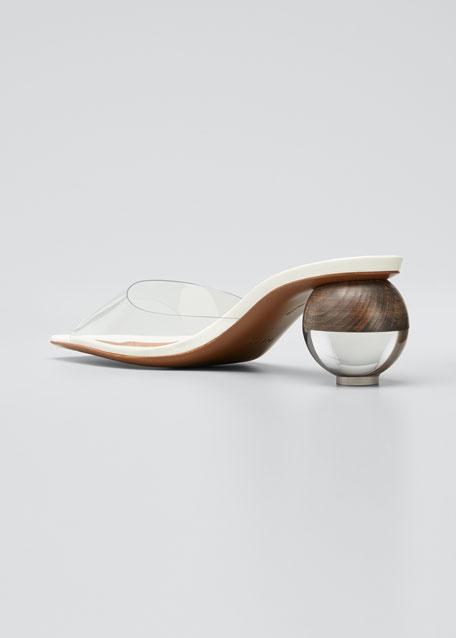 Opus 55mm Ball-Heel Leather Sandals