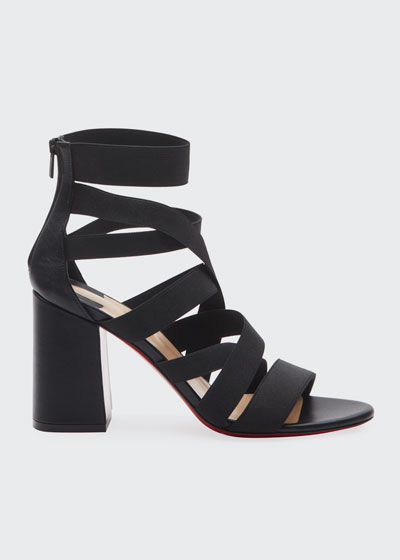 Gladiapop 85 Banded Red Sole Sandals
