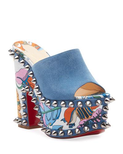 Massivatac 160 Silk-Heel Spike Red Sole Sandals