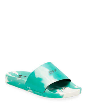 Off-White Tie-Dye Pool Slide Sandals