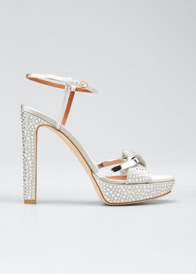 Lauren Metallic Studded Platform Sandals