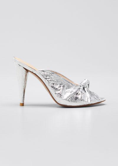 Pari Metallic Heeled Sandals