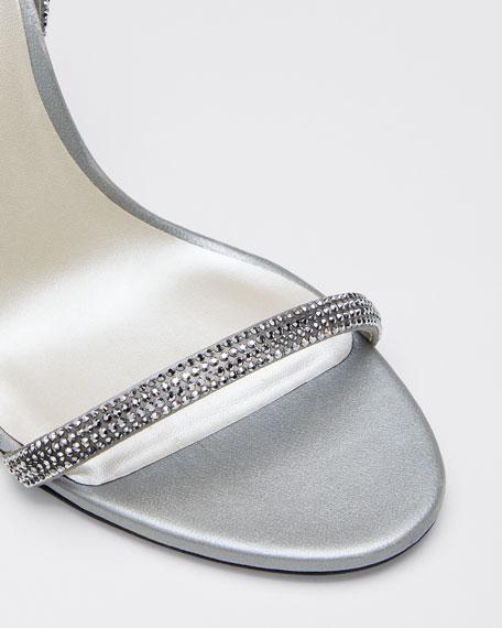 Crystal Cocktail Ankle-Strap Sandals