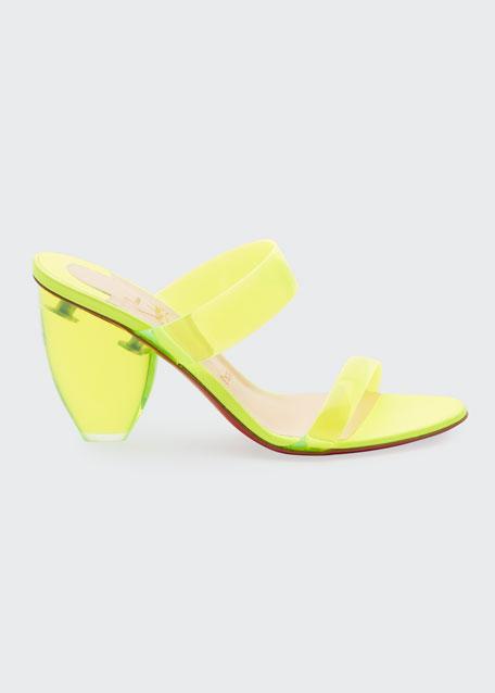Ovida PVC 85mm Red Sole Mule Sandals