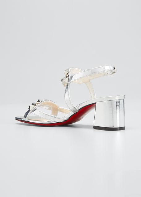 Galerietta 55mm Metallic Leather Red Sole Sandals