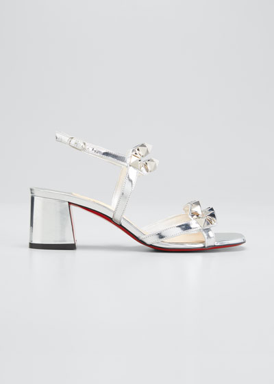 Galerietta 55mm Metallic Leather Red Sole Sandals