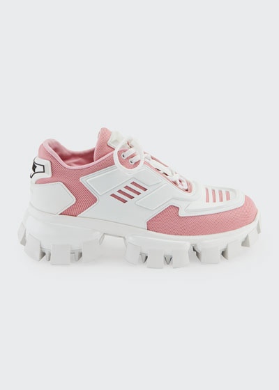 Exaggerated Tech Caged Lace-Up Chunky Sneakers
