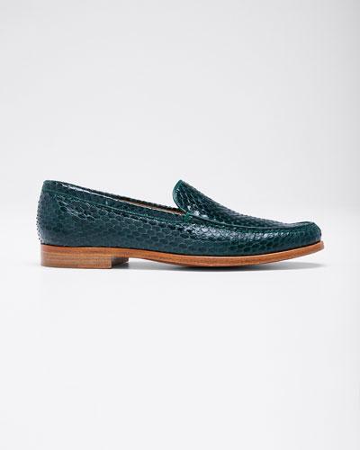 Renault Snakeskin Loafers