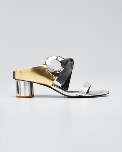 Spectra Mixed Metallic Sandals