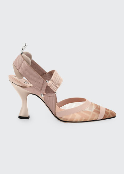 Colibri 85mm FF Mesh Slingback Pumps