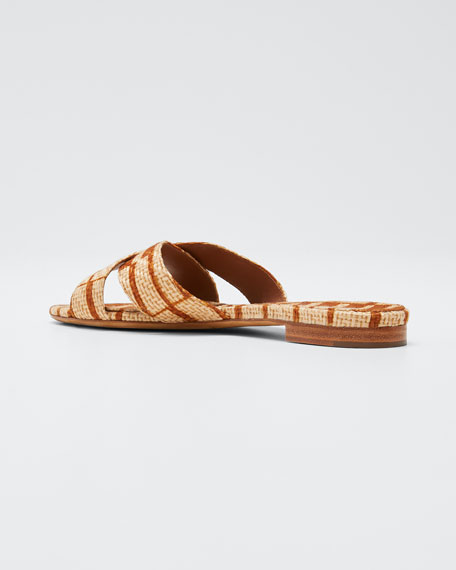 Lassie Two-Tone Raffia Sandals