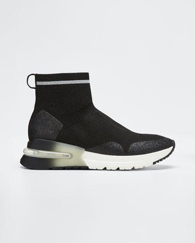 Kyle Glitter Knit Sock Sneakers