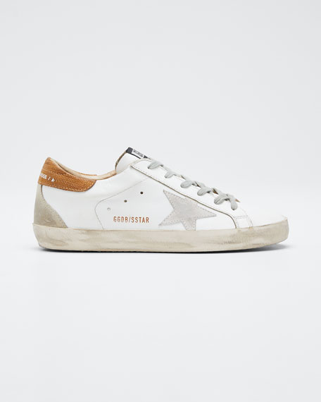 Superstar Leather Lace Up Sneakers by Golden Goose