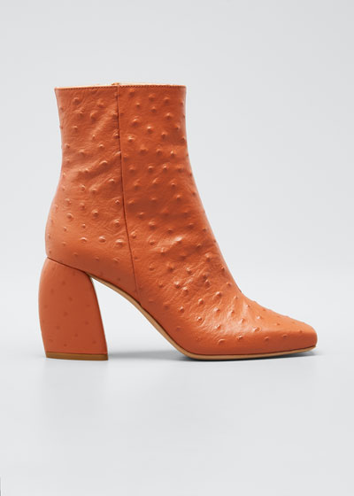 Bronson Ostrich Ankle Booties
