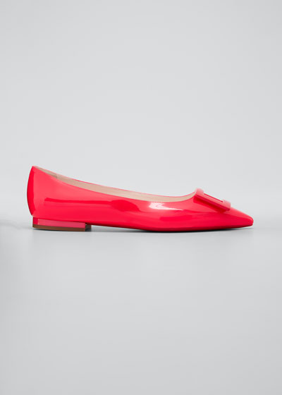 Gommettine Patent Ballet Flats with Tonal Buckle