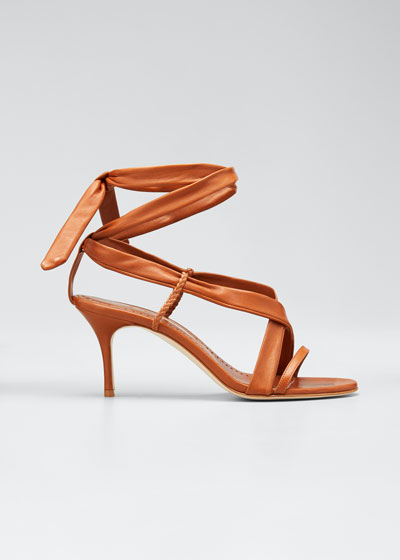 Tor Napa Ankle-Wrap Sandals