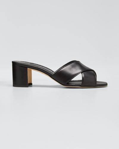 Ottawi Crisscross Slide Heeled Sandal